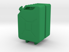 2 X Jerrycans in Green Processed Versatile Plastic