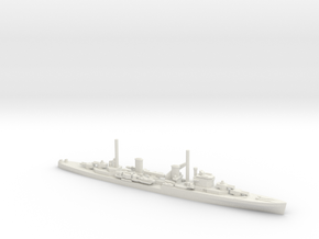 British Perth-Class Cruiser in White Natural Versatile Plastic: 1:600