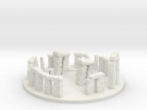Stonhenge Epic Scale miniature for games micro in White Natural Versatile Plastic