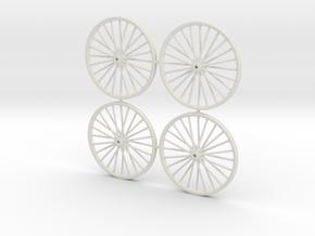 32.5mm N Gauge Colliery Winding Gear in White Natural Versatile Plastic: 1:160 - N