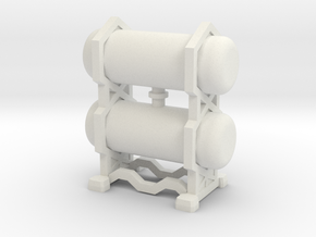 15mm Scale Cargo Canister in White Natural Versatile Plastic