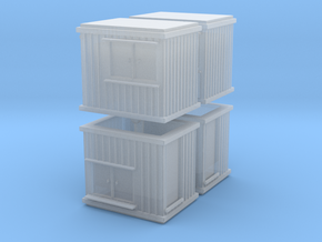 10 ft Office Container (x4) 1/220 in Smooth Fine Detail Plastic