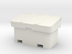Large SOS Sand Bin 1/56 in White Natural Versatile Plastic