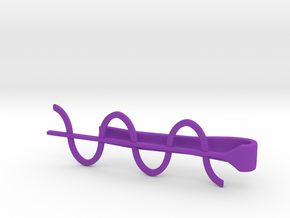 Cosine Wave Tie Bar (Plastics) in Purple Processed Versatile Plastic