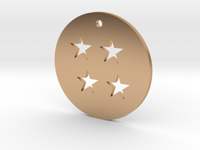 Four Star Dragon Ball Charm in Polished Bronze