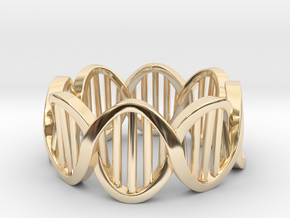 DNA Ring (Size 5) in 14K Yellow Gold