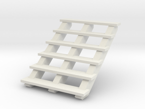 Wooden Stairs 1/35 in White Natural Versatile Plastic