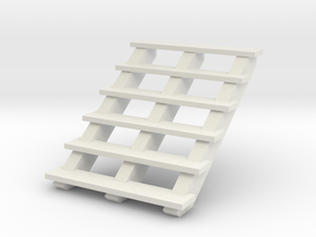 Wooden Stairs 1/24 in White Natural Versatile Plastic