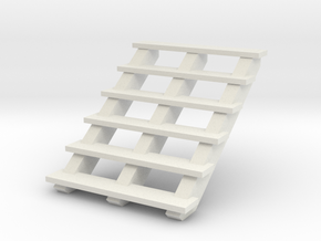 Wooden Stairs 1/12 in White Natural Versatile Plastic