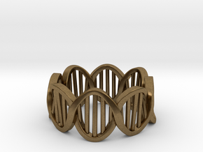 DNA Ring (Size 8) in Natural Bronze