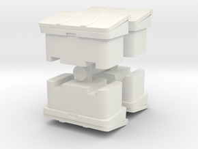 Large SOS Sand Bin (x4) 1/120 in White Natural Versatile Plastic