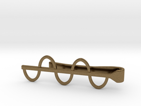 Sine Wave Tie Bar (Metals) in Natural Bronze