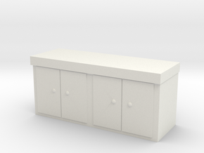 Kitchen Counter 1/64 in White Natural Versatile Plastic