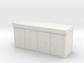 Kitchen Counter 1/35 in White Natural Versatile Plastic