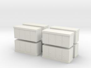 Kitchen Counter (x8) 1/144 in White Natural Versatile Plastic