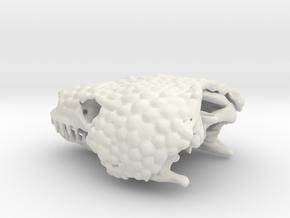 Gila Monster Pendant - Life-sized (75mm) in White Natural Versatile Plastic