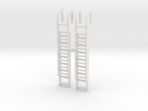 Roof Ladder (x2) 1/64 in White Natural Versatile Plastic