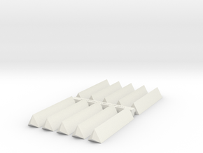 New Haven Railroad/VRR Style Mile Markers  in White Natural Versatile Plastic: 1:87 - HO