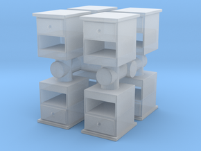 End Table (x8) 1/76 in Smooth Fine Detail Plastic