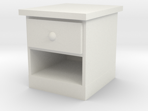 End Table 1/12 in White Natural Versatile Plastic