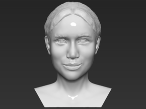 Meghan Markle bust in White Natural Versatile Plastic