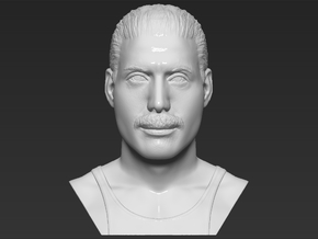 Freddie Mercury bust in White Natural Versatile Plastic