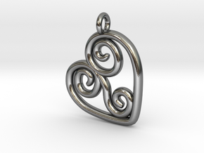 Filagree Heart in Polished Silver