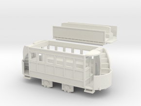 00 Scale Freelance Horse Tram in White Natural Versatile Plastic