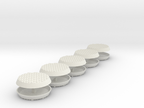 Diamond Bases 32mm round x10 in White Natural Versatile Plastic