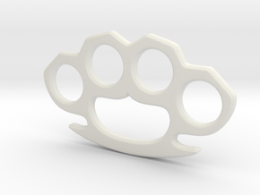 Cosplay Knuckle Dusters Prop in White Natural Versatile Plastic