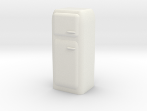 Vintage Fridge 1/24 in White Natural Versatile Plastic