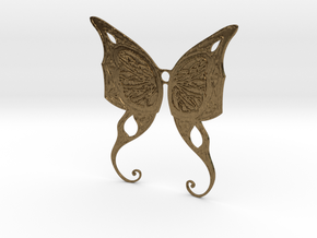 Butterfly Wings Pendant in Natural Bronze