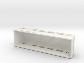 Swedish wagon for railcar UCFo1 / UCFo2 H0-scale in White Natural Versatile Plastic