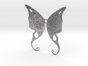 Butterfly Wings Pendant in Natural Silver