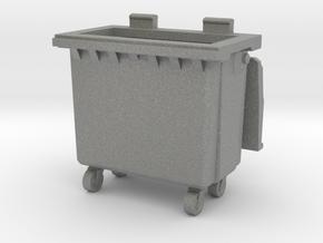 Trash bin with wheels 01.O Scale (1:48) in Gray PA12