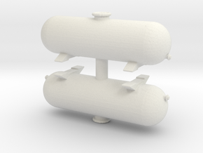 LPG Gas Tank (x2) 1/100 in White Natural Versatile Plastic