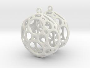 Porthole Earrings in White Natural Versatile Plastic