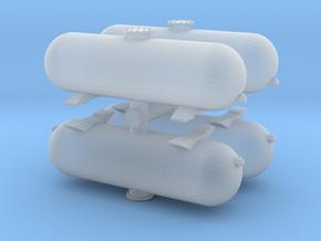 LPG Gas Tank (x4) 1/160 in Smooth Fine Detail Plastic