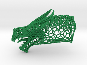 Dragon Trophy Wireframe in Green Processed Versatile Plastic