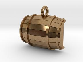 Keg / Barrel Pet Tag in Natural Brass