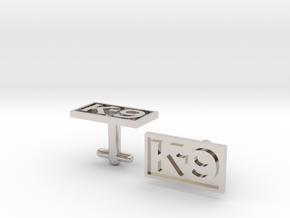 K-9 Cufflinks Silver, Brass, or Gold in Platinum