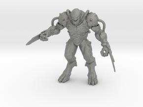 Doom Eternal Dread Knight 42mm miniature games in Gray PA12