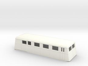 Swedish wagon for railcar UCFo1 / UCFo2s H0-scale in White Processed Versatile Plastic