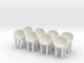 Modern Bar Chair (x8) 1/56 in White Natural Versatile Plastic