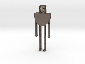 Rozz - The Wild Robot in Polished Bronzed-Silver Steel
