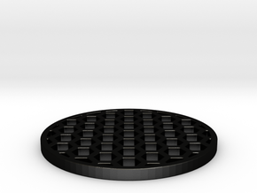 Honeycomb KillFlash 48mm diam 3mm height 4mm diag  in Matte Black Steel