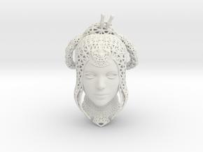 Princess Kitana (wireframe) Fan Art in White Natural Versatile Plastic