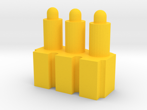 3-Rounds MCX MPX Pellets Seating Tool in Yellow Processed Versatile Plastic