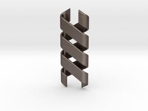 Helix Pendant & Bracelet in Polished Bronzed Silver Steel