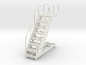Aviation Staircase 1/32-scale in White Natural Versatile Plastic: 1:32